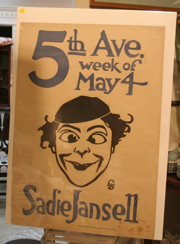 601: Vintage 5th Ave. Theatre Poster - Sadie Jansell