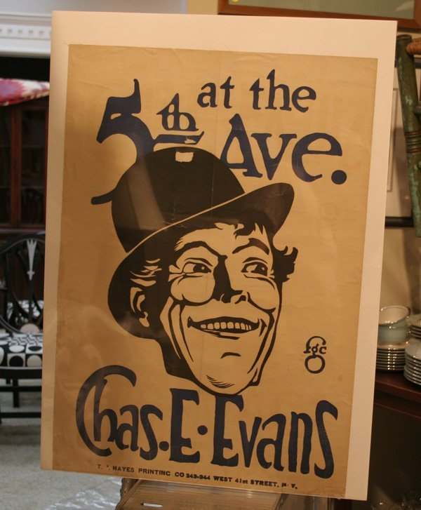 601a: Vintage 5th Ave. Theatre Poster - Chas E Evans
