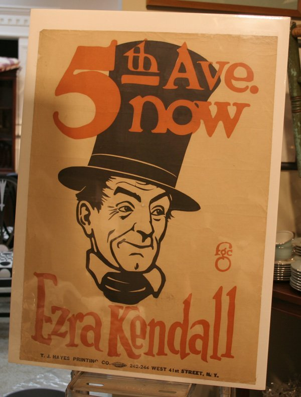 601b: Vintage 5th Ave. Theatre Poster - Erza Kendall