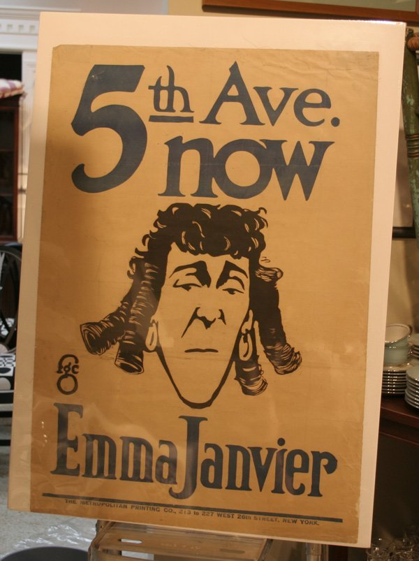 601c: Vintage 5th Ave. Theatre Poster - Emma Janvier
