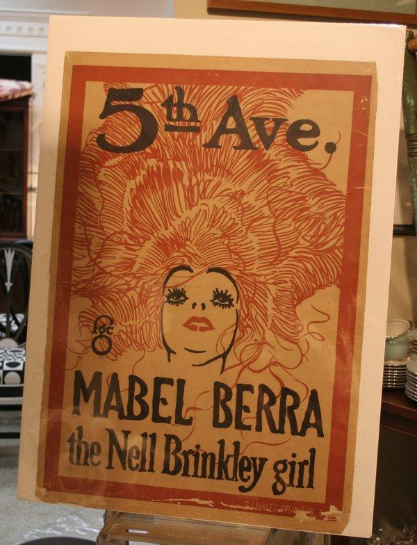 601d: Vintage 5th Ave. Theatre Poster - Mabel Berra