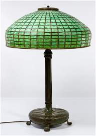 (Attributed to) Tiffany Studios #9922 Lamp with Leaded