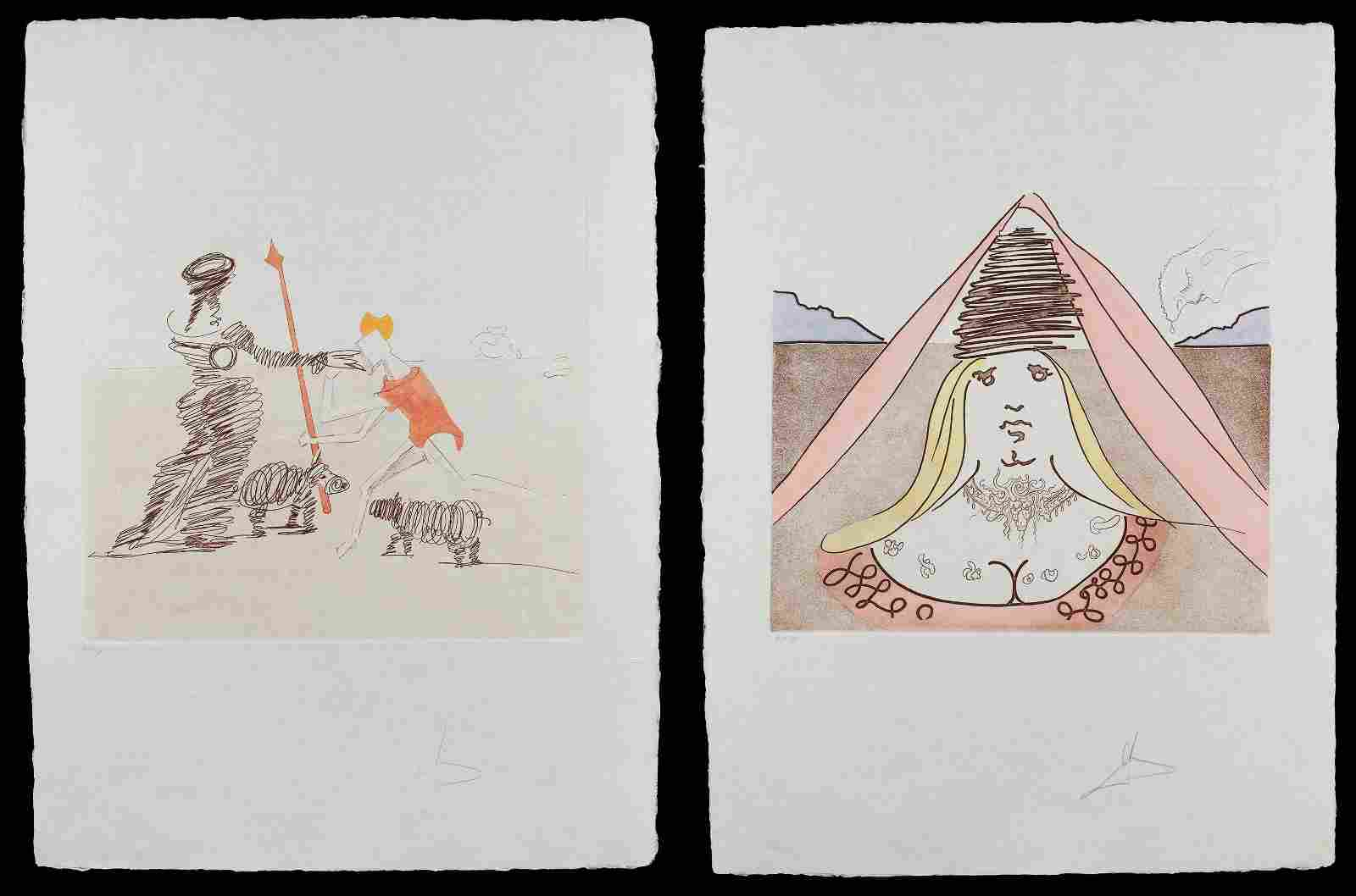 Salvador Dali (Spanish, 1904-1989) 'Pastorale' and 'The