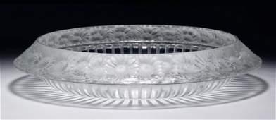 Lalique Crystal Marguerite Centerpiece Bowl