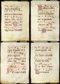 Illuminated Antiphonal Vellum Hymnal Sheets