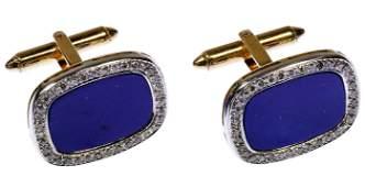 C D Peacock 14k Gold Lapis Lazuli and Diamond
