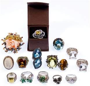 Designer Sterling Silver Ring Assortment