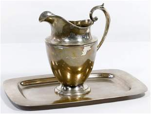 Sterling Silver Gorham Pitcher and Frank W. Smith