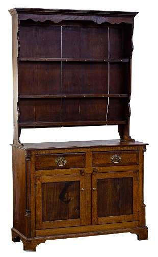 Oak Hutch and Cabinet