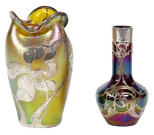 (Attributed to) Loetz 'Silberiris' Glass Vase with La