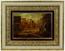 British School (19th Century) Oil on Canvas