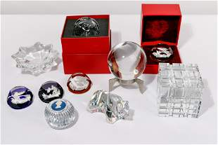 Lalique and Baccarat Crystal Assortment