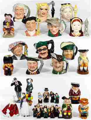 Royal Doulton Figurine and Toby Jug Assortment