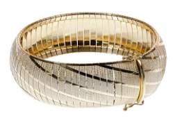 Aurafin 14k Yellow Gold Band Bracelet