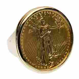 1987 $25 Gold Proof American Eagle in 18k Yellow Gold