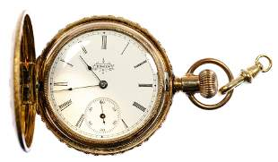 Elgin 14k Yellow Gold Hunt Case Pocket Watch