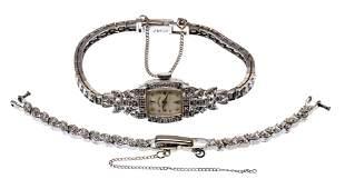 Hamilton 14k White Gold and Diamond Case and Band Wrist