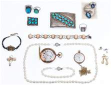 14k Gold, Sterling Silver, Costume Jewelry and Pocket