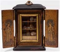 Asian Buddhist Black Lacquer Reliquary