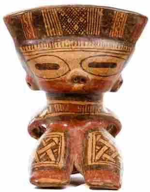 Pre-Columbian Nicoya Guanacaste Style Whistle Figure
