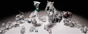Swarovski Crystal Dog and Cat Figurine Assortment