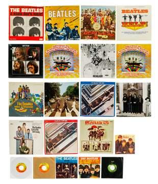 Beatles Vinyl Record Assortment