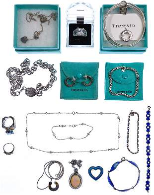 Tiffany & Co and Sterling Silver Jewelry Assortment