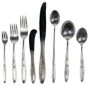 Towle 'Rose Solitaire' Sterling Silver Flatware Service