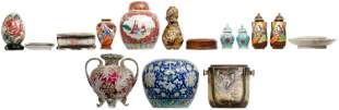 Asian Porcelain and Ceramic Object Assortment