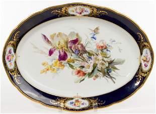 Meissen Hand-Painted Porcelain Platter