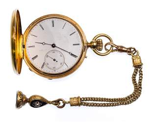 Tiffany & Co 18k Yellow Gold Hunt Case Pocket Watch