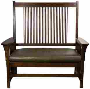 Stickley Mission Style Bench