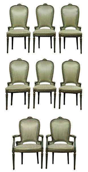 Neoclassical Style Upholstered Dining Chair Collection