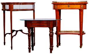 Inlaid Table, Vitrine and Bidet