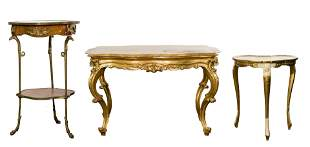Rococo Revival Style Accent Table Assortment