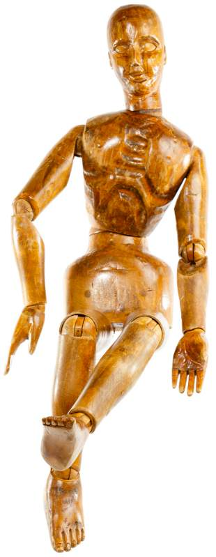 Carved Wood Jointed Artist Model