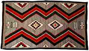Native American Indian Navajo Red Mesa Textile