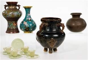Asian Ceramic and Metalware Assortment