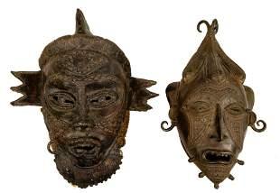 African Tikar Bronze Masks
