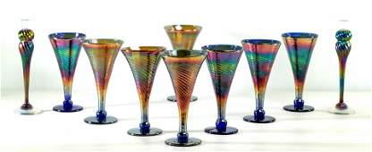 Rick Strini Iridescent Cone Goblet Assortment