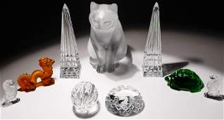 Lalique, Baccarat and Waterford Crystal Assortment