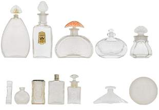 Lalique and Lalique-Style Frosted Glass Assortment