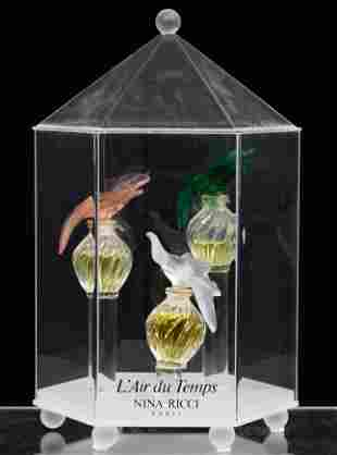 Lalique Crystal 'L'Air du Temps' Perfume Bottles and