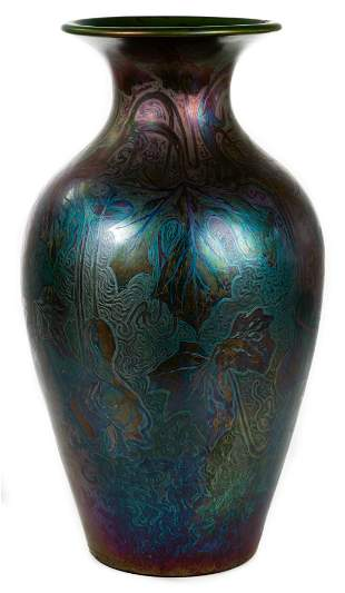Jacques Sicard for Weller Art Pottery Floor Vase