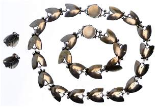 Georg Jensen Sterling Silver Jewelry Suite