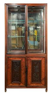 Asian Style Rosewood Display Cabinet