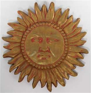 Plaster Sun Wall Relief