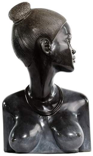 Carved Stone Female Bust