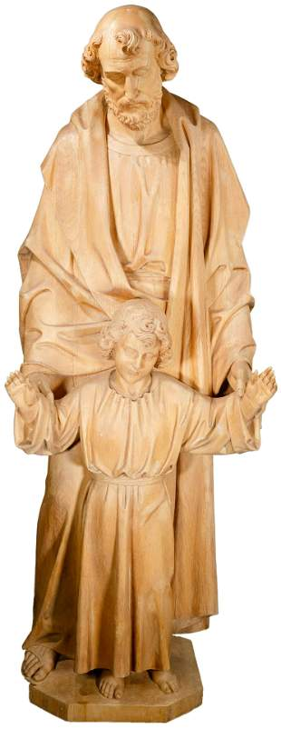 Wilhelm Haverkamp (German, 1864-1929) Wood Sculpture