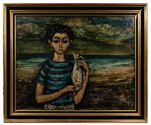 Enrico Campagnola (French / Italian, 1911-1984) Oil on